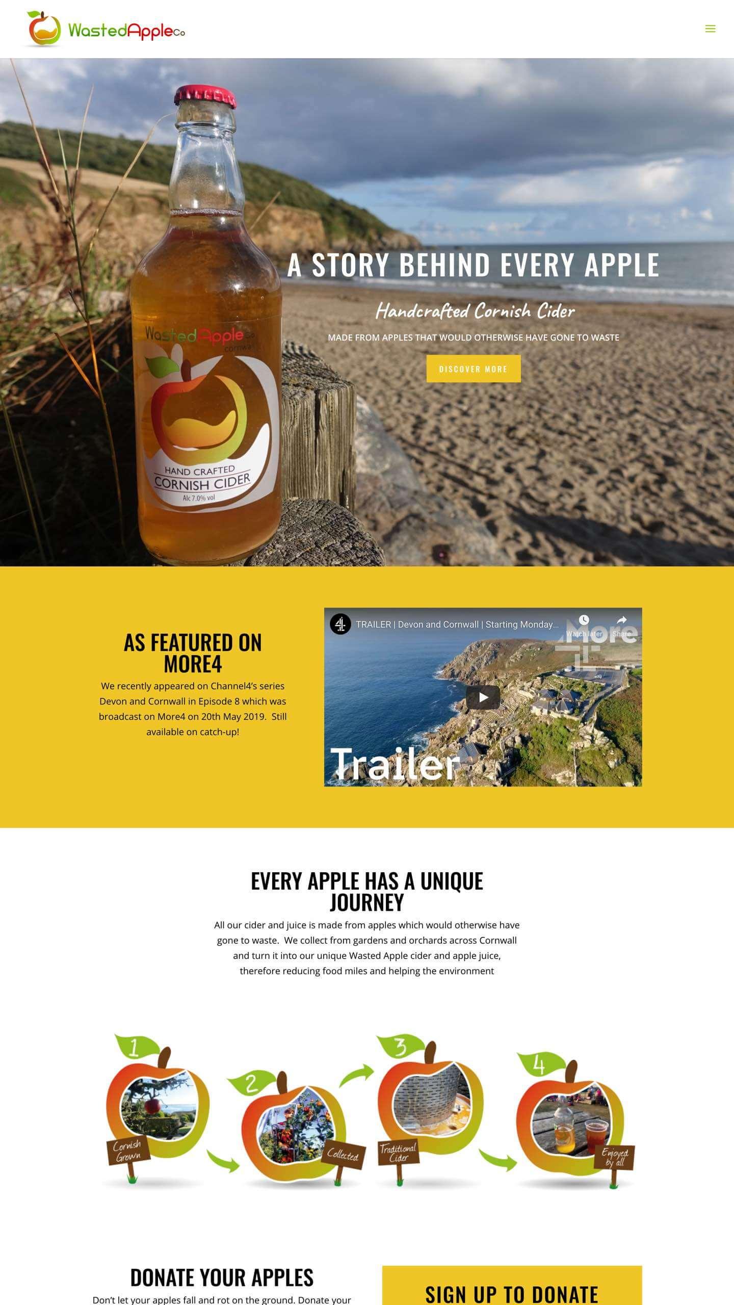 Wasted Apple Cider site